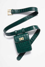 Load image into Gallery viewer, Alligator Skin Type Fanny Pack (also Comes In Green Or Brown)