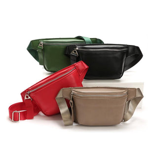 Leather Type Fanny Pack For Women (comes In 4 Colors)