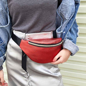 Leather Type Fanny Pack For Women (comes In 5 Different Colors)