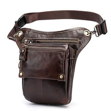 Load image into Gallery viewer, Men's Leather Leg Fanny Pack