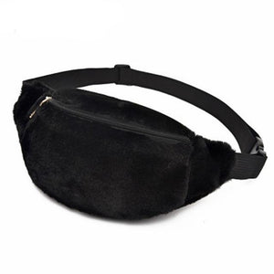 Women's Plush / Fur Fanny Pack (click To See Different Colors)