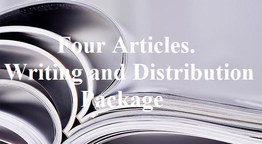 Four Professional Articles. Writing and Distribution To 50 High PR Articles Submission Sites