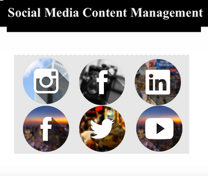 Social Media Content Management.  Monthly Package For One Account