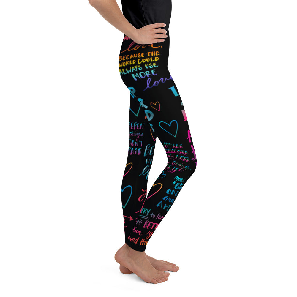 "Positivity ""Pants"" - Youth Leggings"