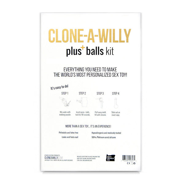 Clone-A-Willy Kit Including Balls - Erotes.be