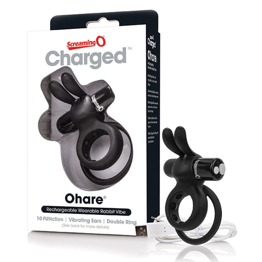 The Screaming O Charged Ohare Rabbit Vibe Anneau De Pénis Vibrant Double Rechargeable - Erotes.be