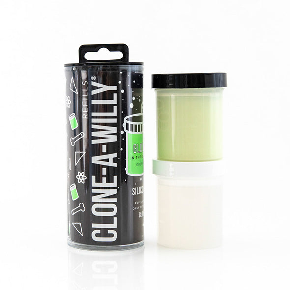 Clone-A-Willy Refill Glow In The Dark Silicone - Erotes.be