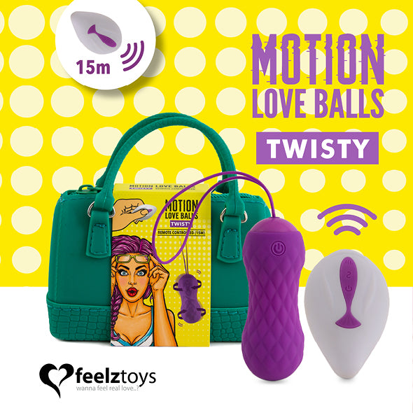 Feelztoys Remote Controlled Motion Love Balls Twisty - Erotes.be