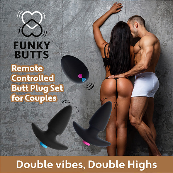 Feelztoys FunkyButts Ensemble Plugs Anal Télécommandé - Erotes.be