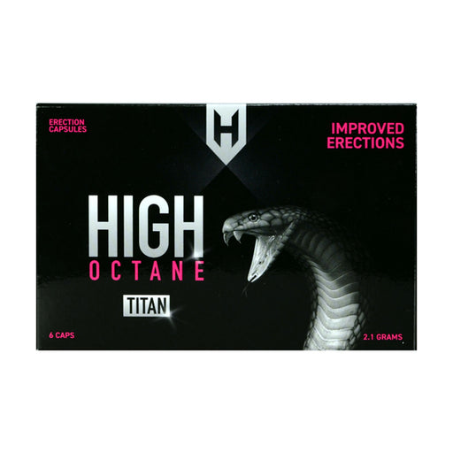High Octane Titan Capsules d'érection