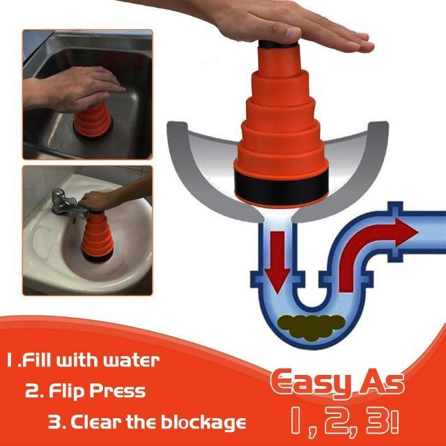 Cleaner Water Air Drain Clog Cannon