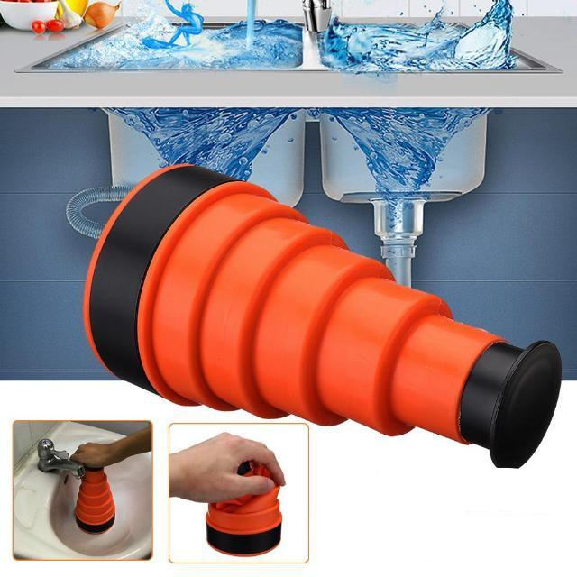 High Pressure Powerful Manual Sink Plunger Cleaner Water Air Drain Clog Cannon