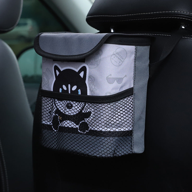 UNTIOR Cartoon Car Trash Can with Lid Portable Waterproof