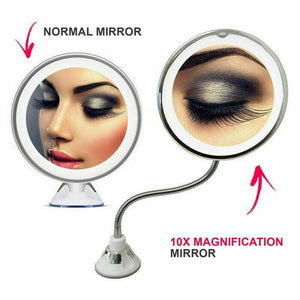 10X magnification LED fill light makeup mirror