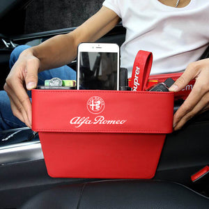 Car Seat Crevice Storage Box With Car Logo
