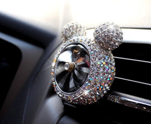 Creative Bling Crystal car outlet vent clip air freshener