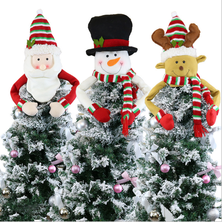 Large Santa Christmas Tree Topper for Christmas Tree Decorations