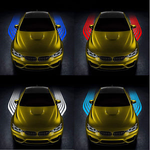 2Pcs Car Angel Wings Welcome Light LED Door Warning Light