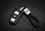 (Today Big Sale Code:GET5)PU Braided Rope Car Logo Keychain