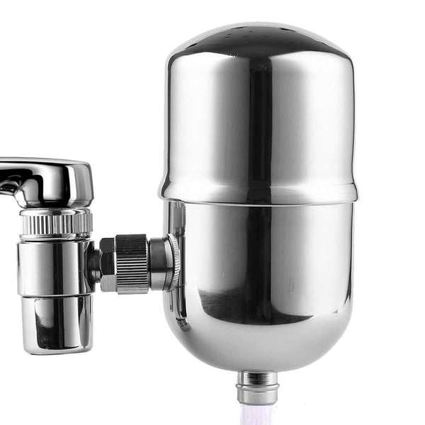 Faucet Water Filter Stainless-Steel Reduce Chlorine High Water Flow