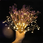 LED Lights Fireworks Styling Hanging Starburst Fairy Wreath Christmas Flashing Lights