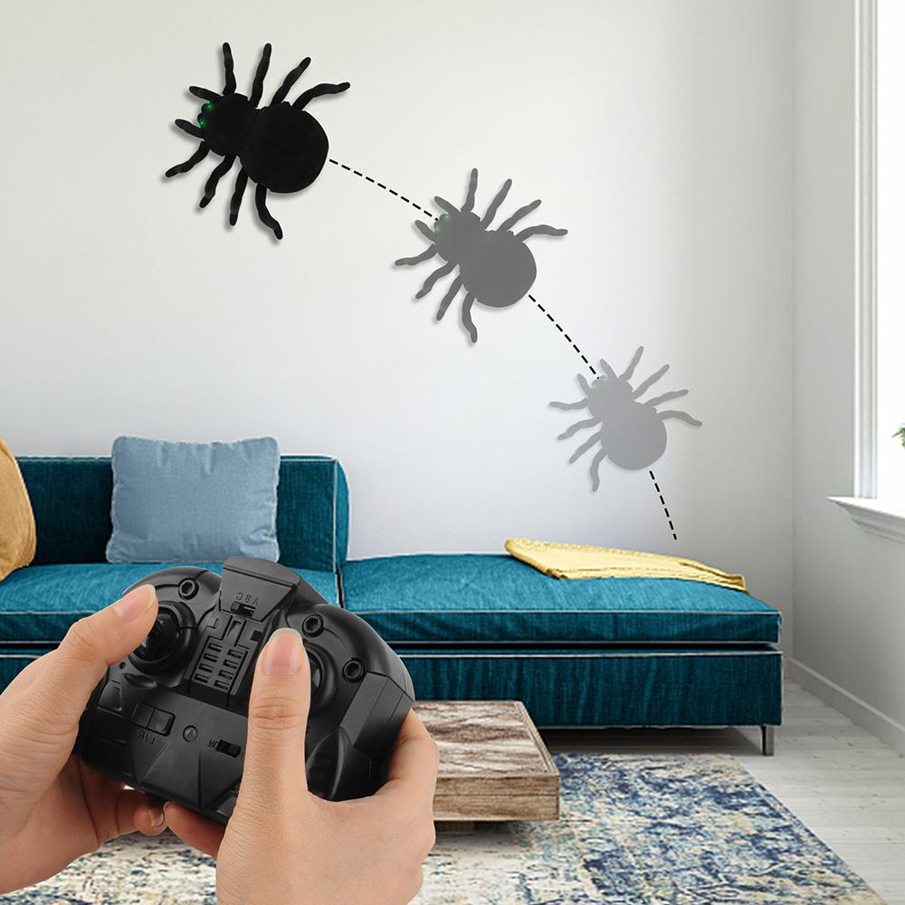 Prank! Wall Climbing Remote Electronic Spider Simulation Toy