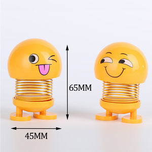 Shaking Head Emoji Doll Multi-face Creative Car Decoration