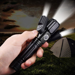 Military 3-Head Magnetic LED Flashlight