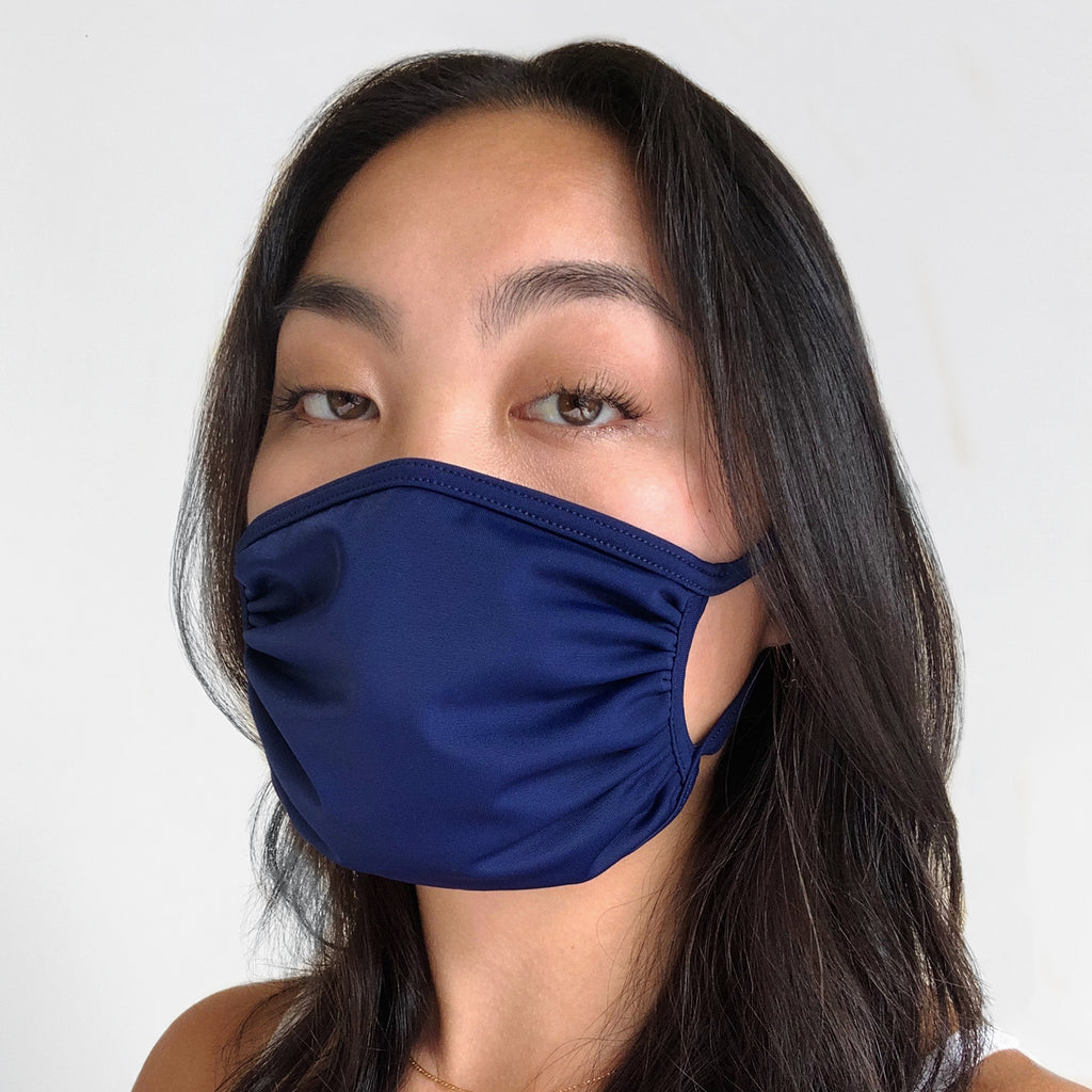 2pack Washable 4Way Stretch Mask - Navy