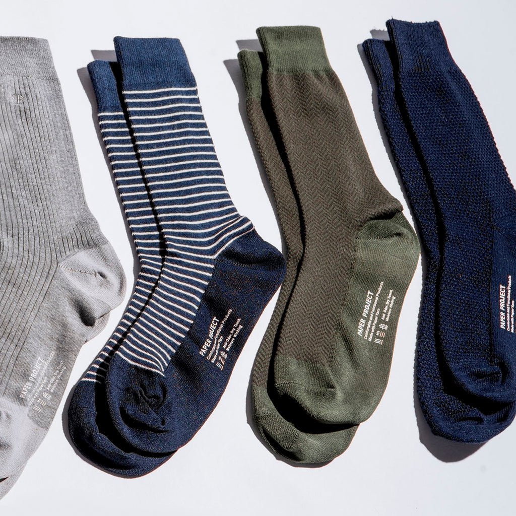 Crew Sock 4pair Gift Box - Navy