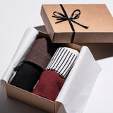 Crew Sock 4pair Gift Box - Burgundy