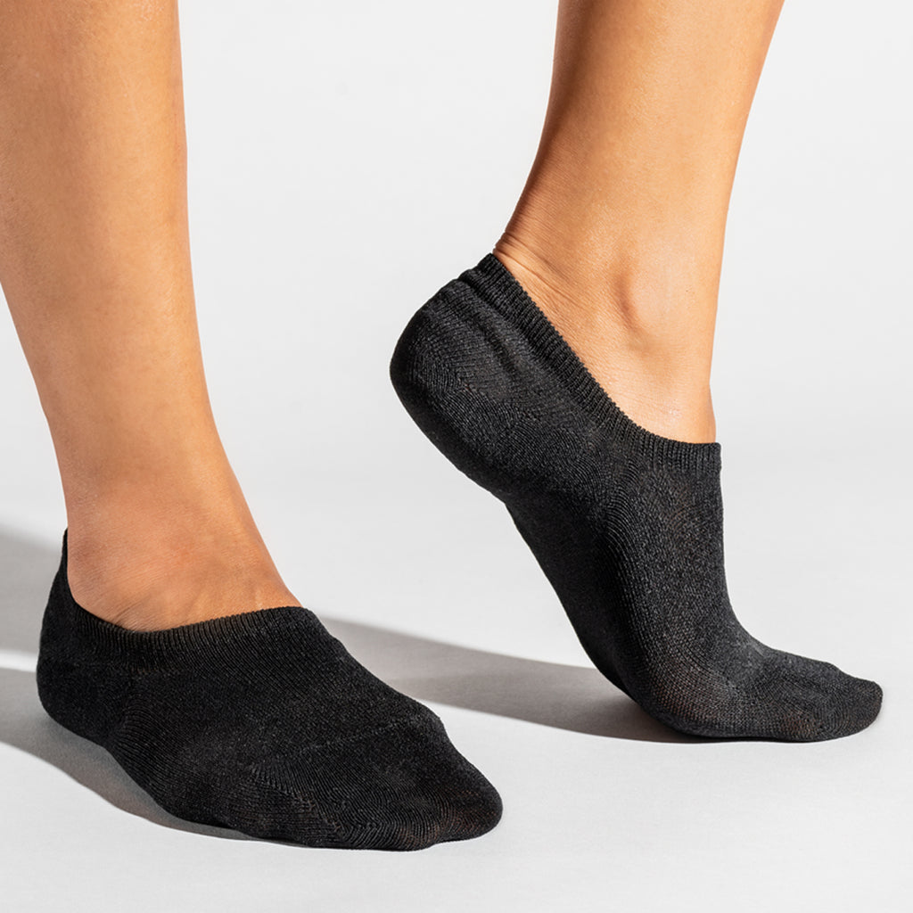 Basic No Show Socks 3pairs - Black
