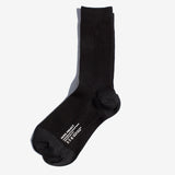 Basic Rib Crew Socks - Black