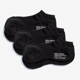All Day Pile Ankle Socks 3 pairs - Black