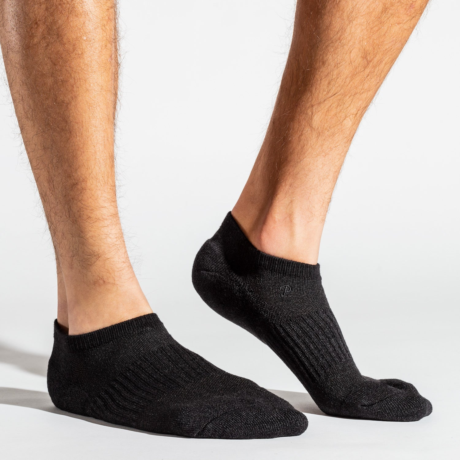 All Day Pile Ankle Socks - Black