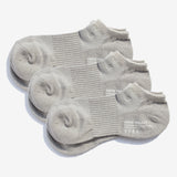All Day Pile Ankle Socks 3pairs - Grey