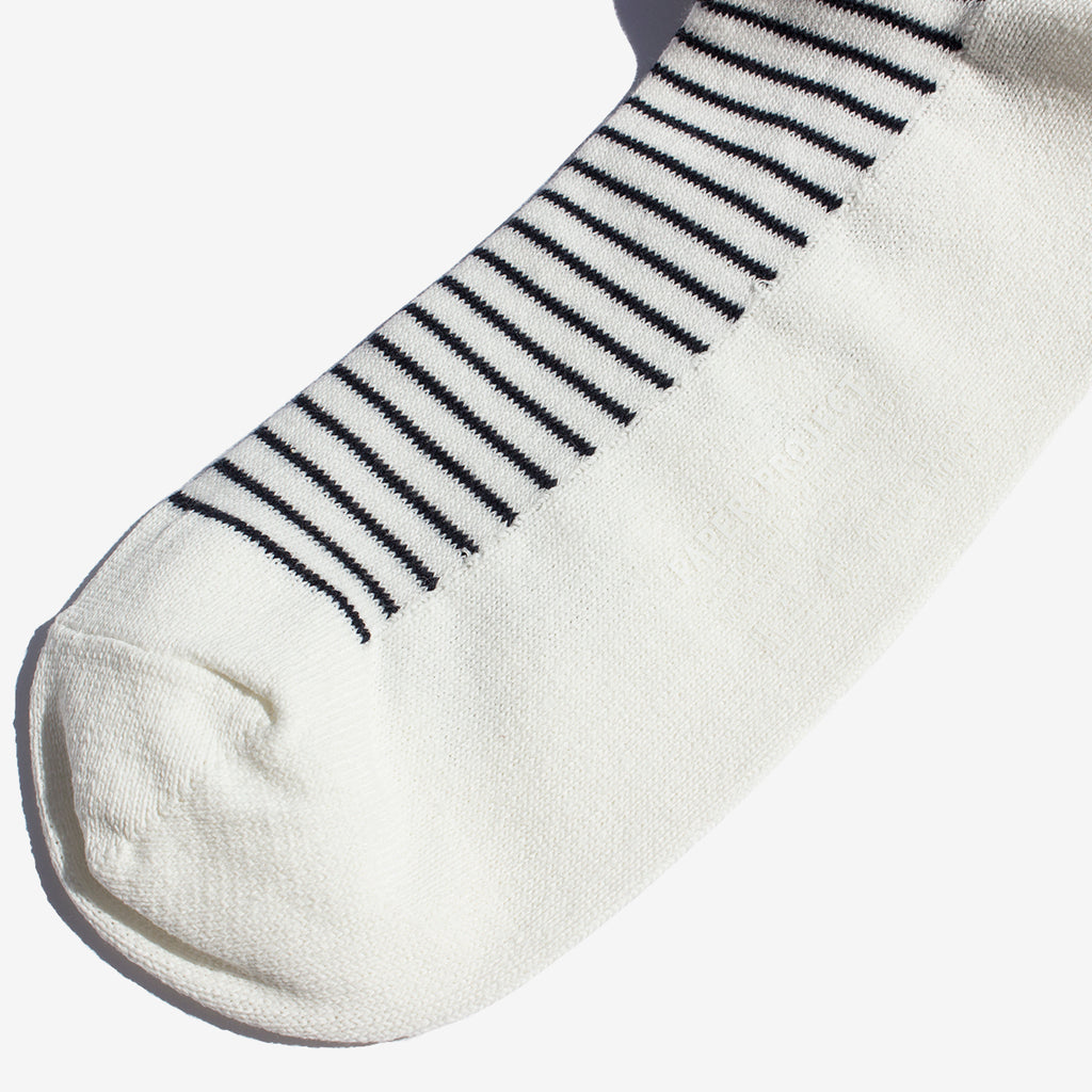 Nautical Stripe Crew Socks - White
