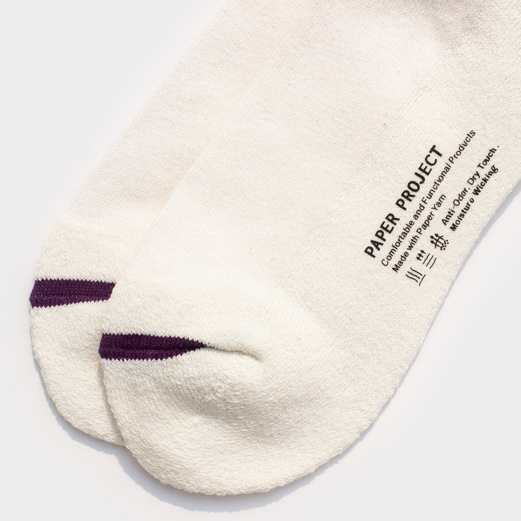 Silver Ion Athletic Crew Sock - White