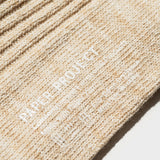 Hemp Heather Crew Sock - Oatmeal