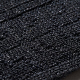 Wool Cable Crew Sock - Charcoal
