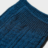Wool Cable Crew Sock - Peacock