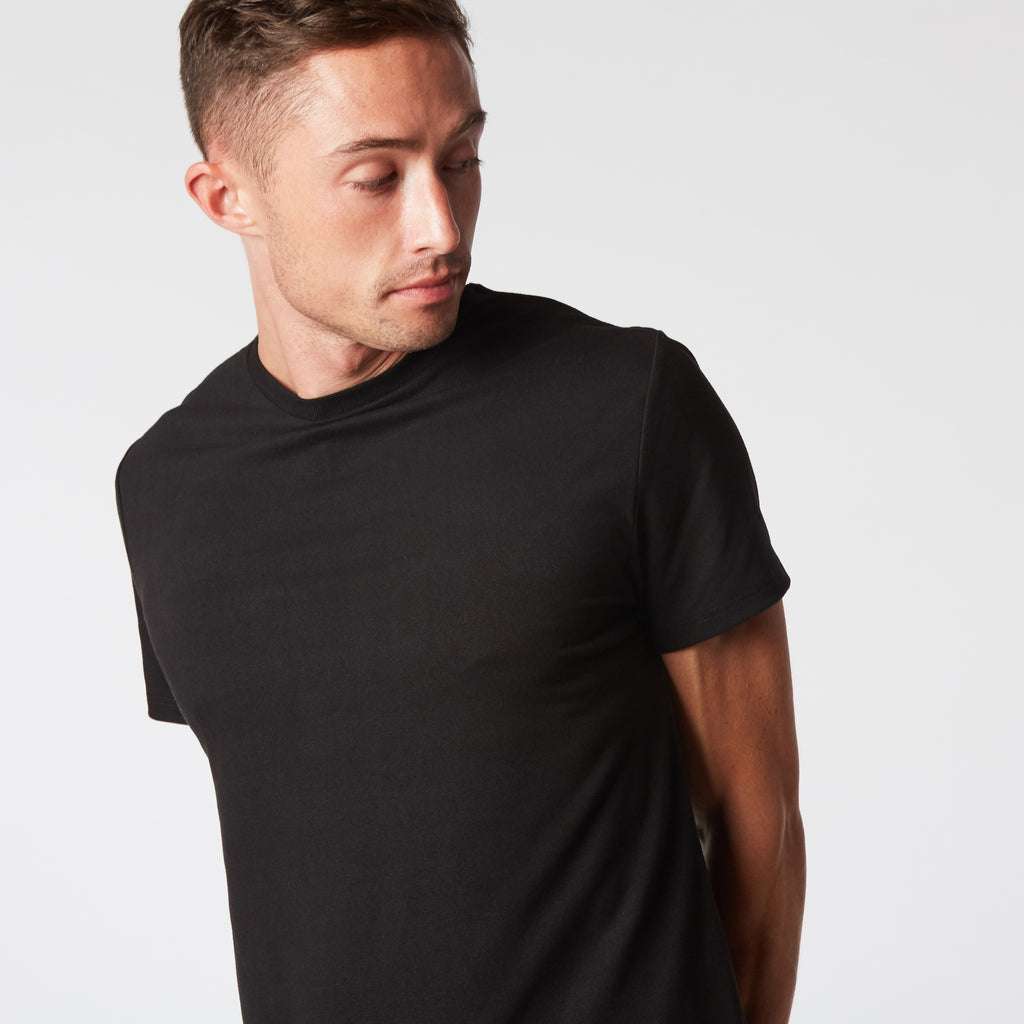 Mint Stretch Crew Tee - Black