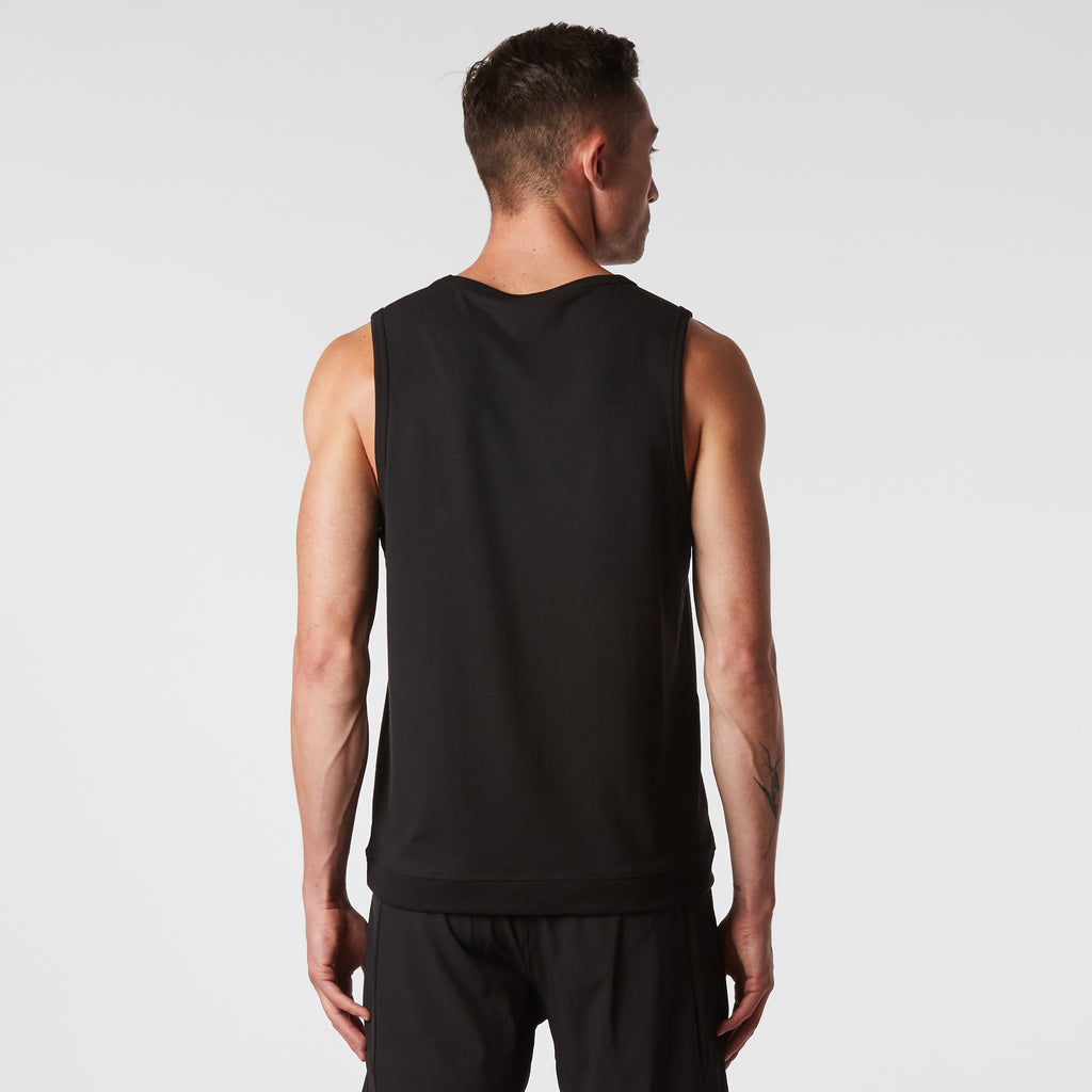Mint Stretch Tank - Black
