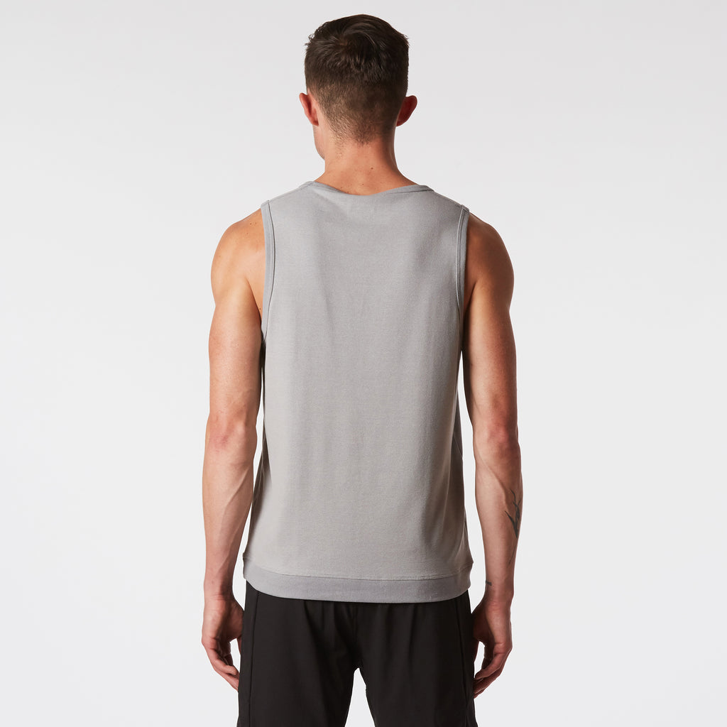 Mint Stretch Tank - Grey