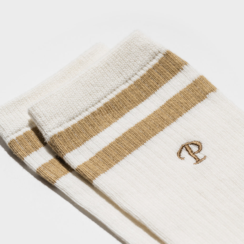 Team P Stripe Crew Socks - Ochre
