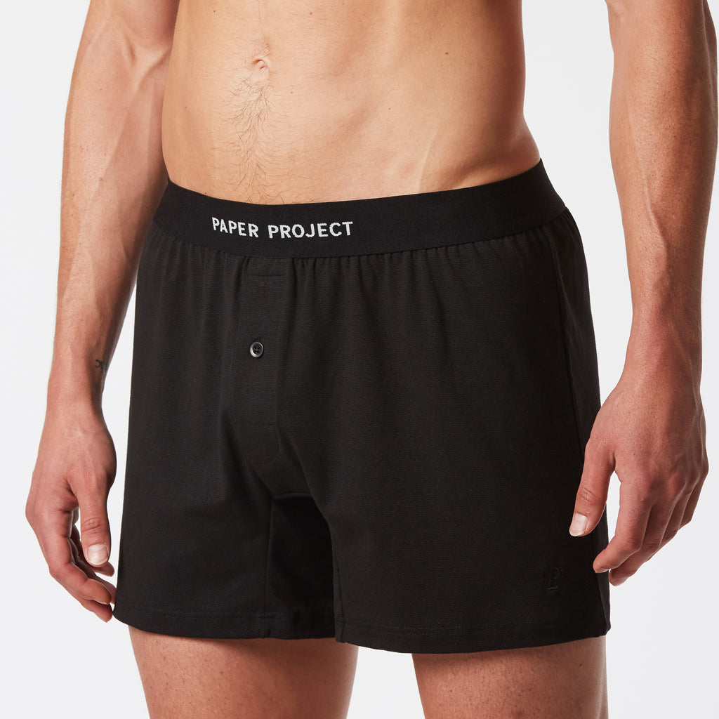 Mint Boxer Shorts 3pairs - Black