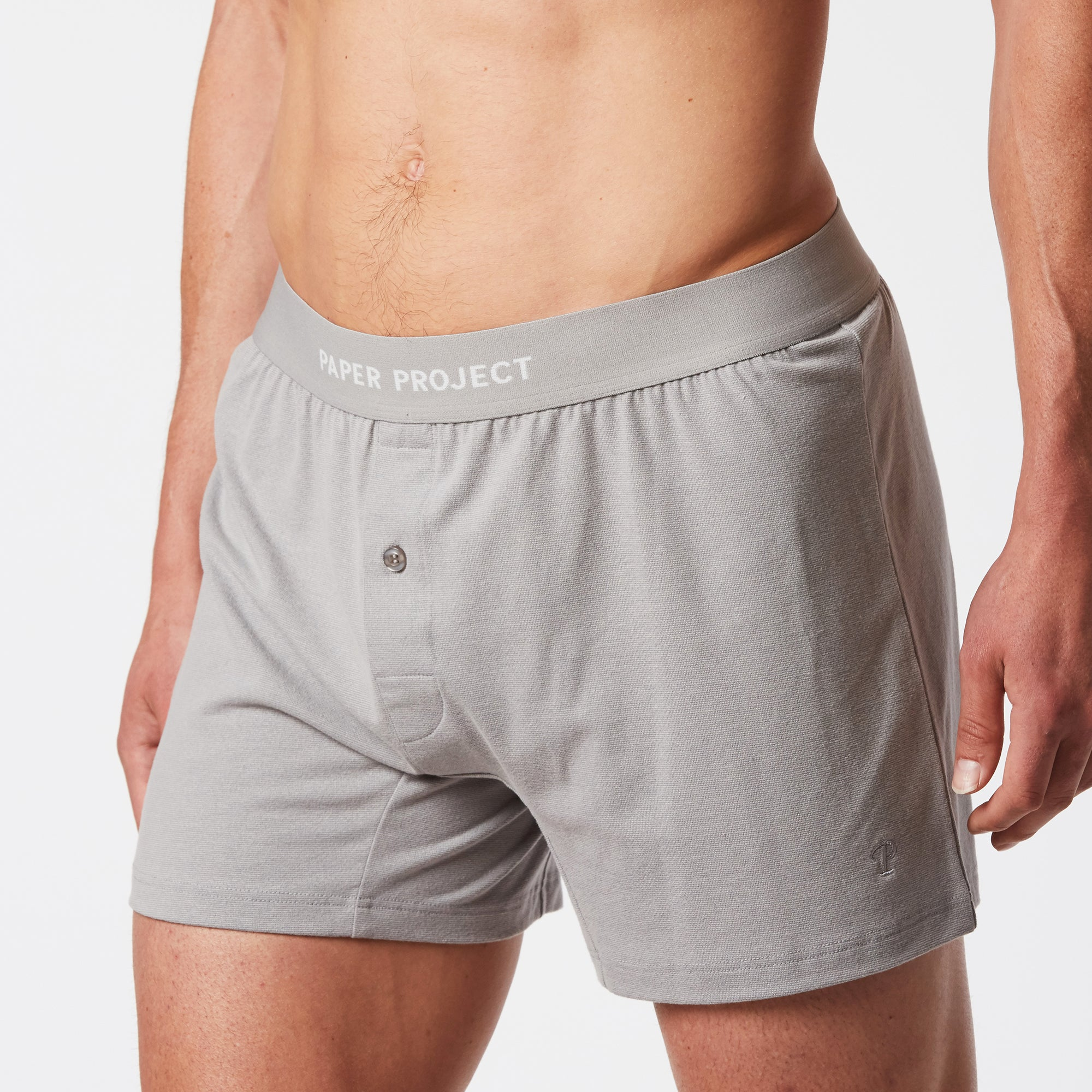 Mint Extract Boxer Shorts - Grey