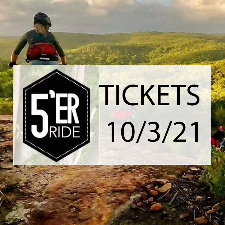 Fiver Ride Tickets 10/3/2021