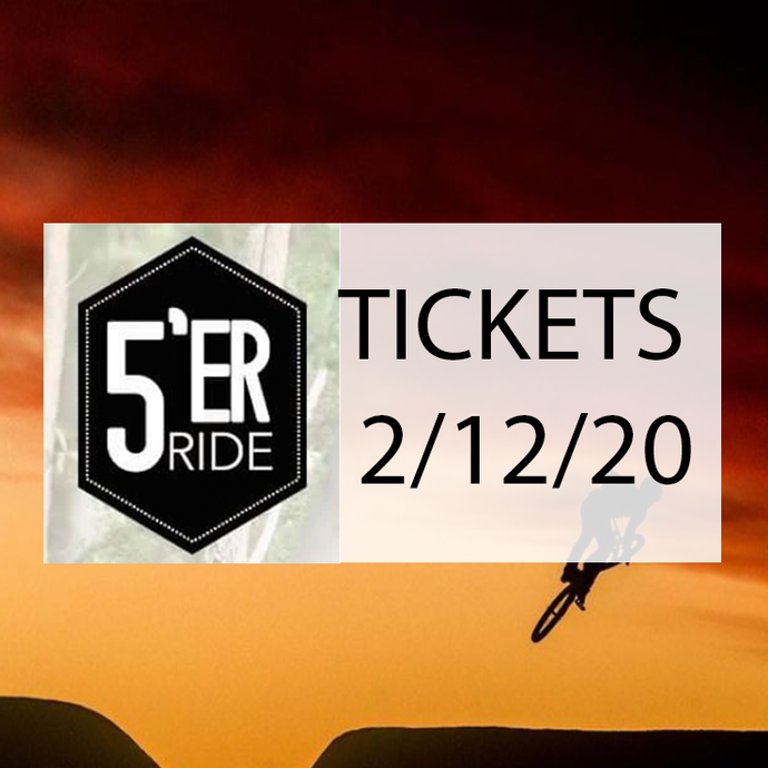 Fiver Ride Tickets 2/12/20