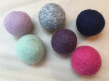 Load image into Gallery viewer, Felted Wool Balls 6 Count - Natural Cat Toys